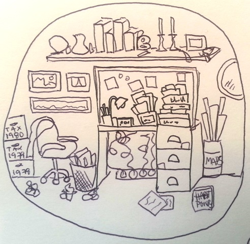 clutter in the office cartoon