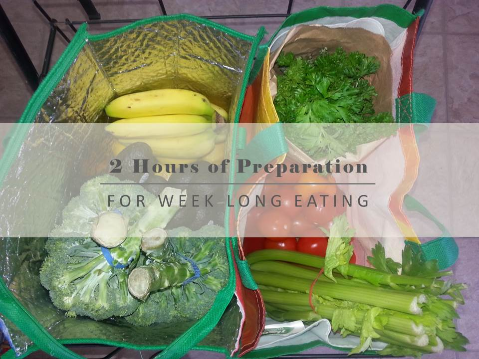 2 Hours of Preparation for Week Long Eating