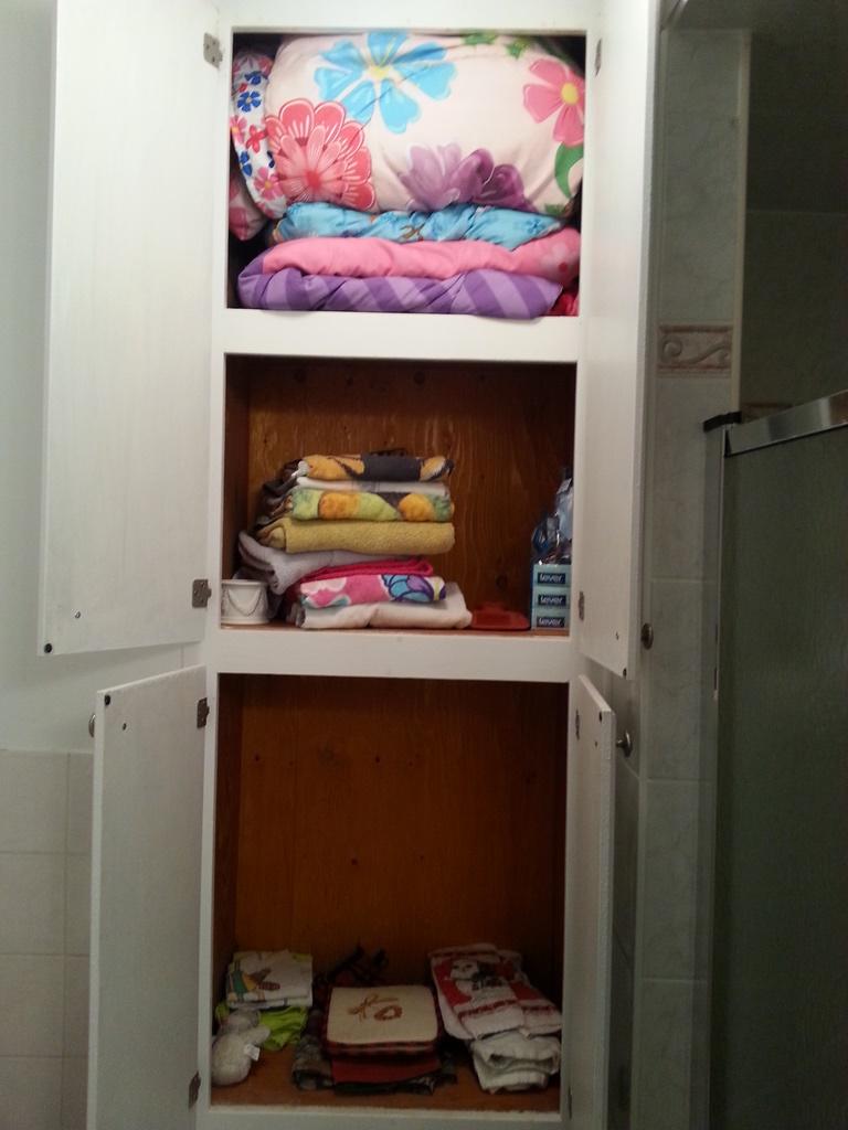 Bathroom closet before
