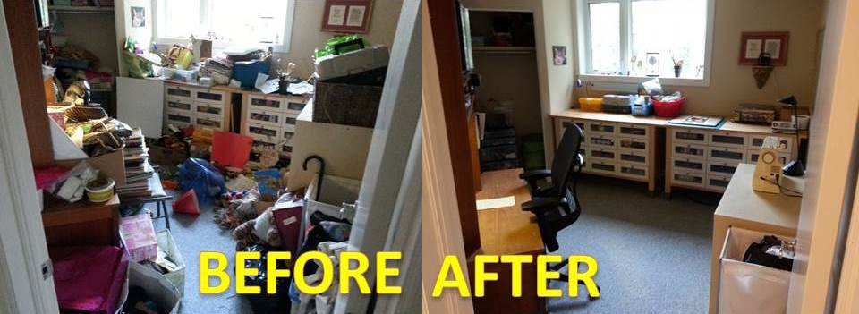 KW Professional Organizers - Before and After - Craft Room