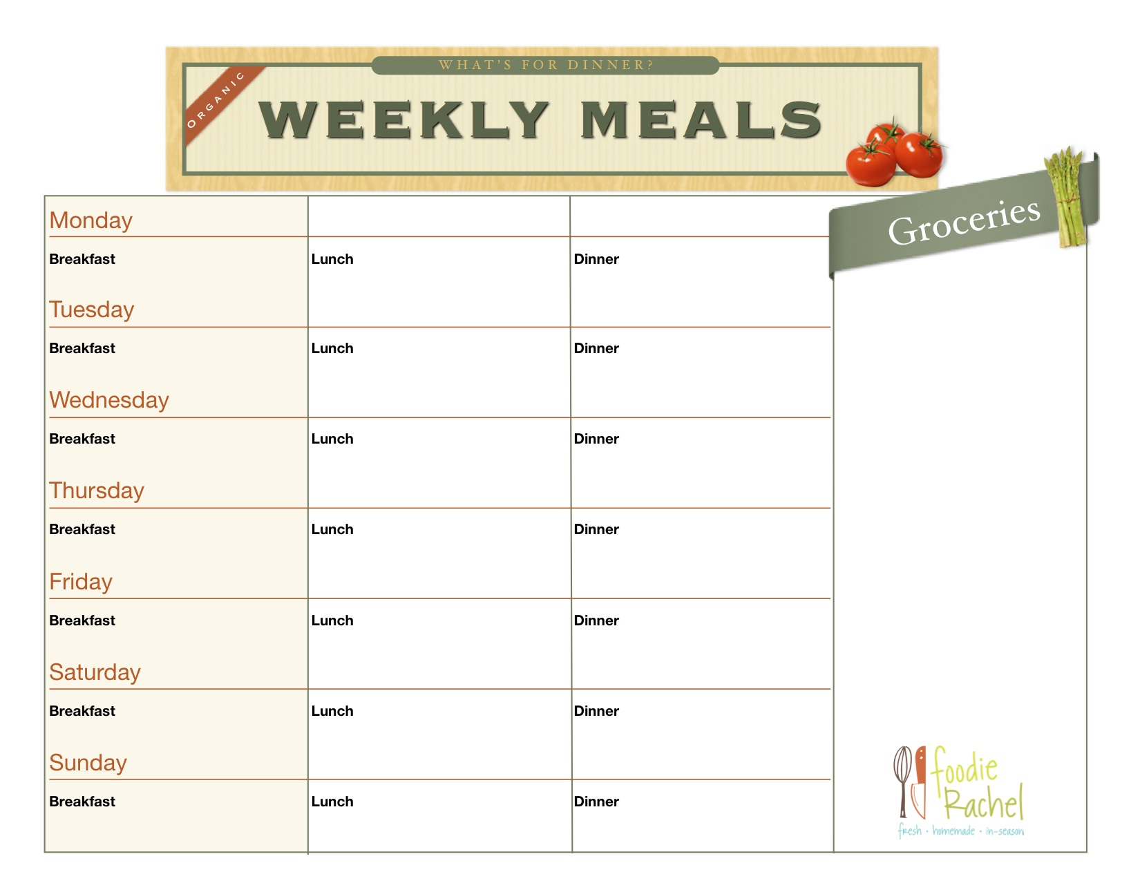 Organized Meal Planning - KW Professional Organizers