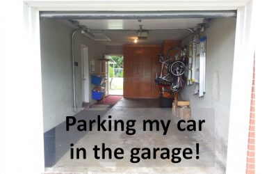 Parking the car in the garage again!