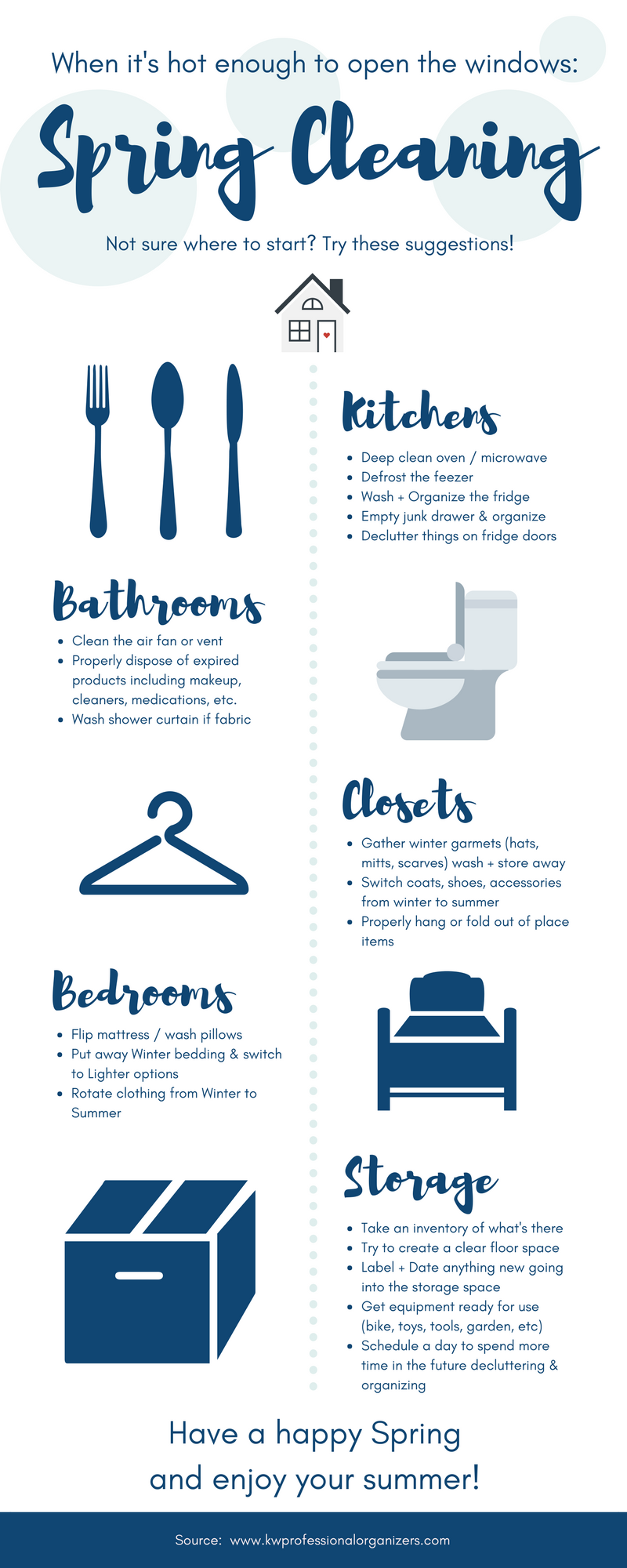 spring cleaning to do list kw professional organizers