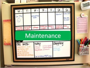 Meal Planning Maintenance