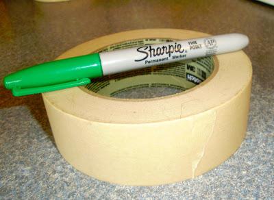 Sharpie Marker and Masking tape